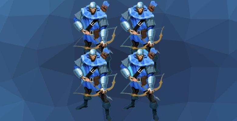 Лучники-ополченцы из игры Империя и Паззлы